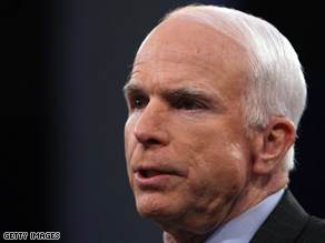 Sen. John McCain says it's time for the federal government 'to put our own reserves to use.'