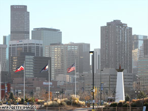 Denver, Colorado, hosted the 2008 Democratic National Convention.
