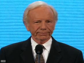 Sen. Joe Lieberman is a former Democratic vice presidential candidate who supports John McCain.