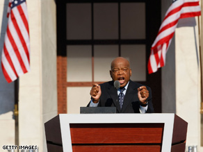Rep. John Lewis, D-Georgia, and Sen. John McCain traded tough statements Saturday.