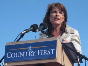 Alaska Gov. Sarah Palin campaigns in Lancaster, Pennsylvania, Saturday.