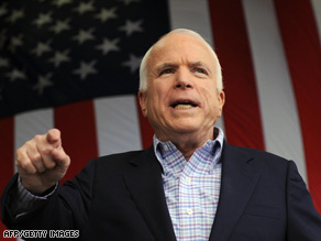 "Sen. John McCain says that ""every time that I've gotten ahead, somehow I've messed it up."""