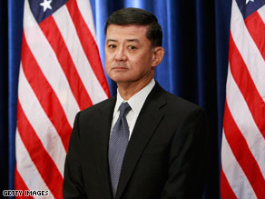 Retired Gen. Eric Shinseki was selected by President-Elect Barack Obama to be his Secretary of Veterans Affairs.