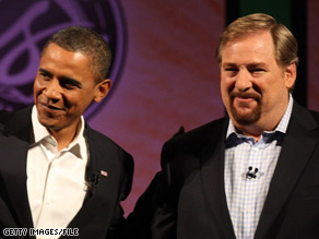 President-elect Barack Obama has chosen Rick Warren to deliver the invocation at his inauguration.
