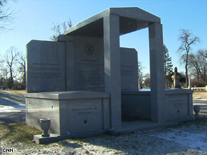 Roland Burris has erected a mausoleum listing his accompishments in Chicago's Oak Woods Cemetery.