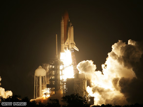 Space shuttle Endeavour lifted off at 7:55 p.m. ET last Friday, en route to the international space station.