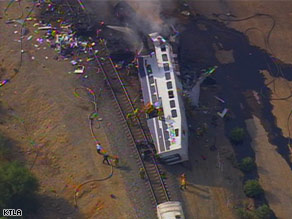 Train collision possibly due to texting