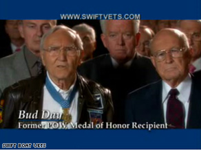 Former Col. Bud Day appeared in a 2004 Swift Boat Vets spot.