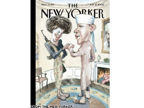 The New Yorker magazine says its latest cover is just satire.