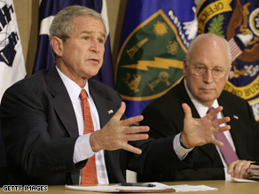 President Bush used executive privilege to avoid turning over FBI interviews with Vice President Cheney.