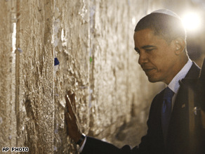 Obama visited the Western Wall early Thursday.