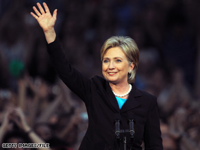 Sen. Clinton waved at supporters gathered in early June as she announced the suspension of her White House bid.