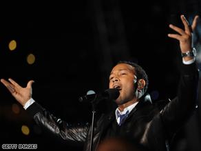 Musician John Legend performs.