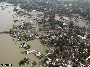 The worst flooding in decades has devastated much of the state of Bihar in India.