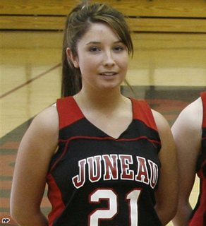 Bristol Palin, daughter of Republican vice presidential candidate, Alaska Gov. Sarah Palin, poses as a member of the Juneau-Douglas High School junior varsity basketball team in February 2007.