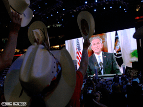 Bush addressed the GOP convention Tuesday.