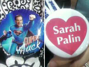 Various playful buttons have been spotted at the RNC.