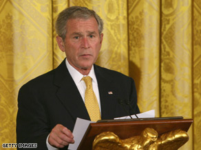 President Bush is urging Congress to pass the rescue plan as is.