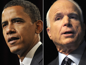CNNs most recent polls have Obama at 49% and McCain at 44%.