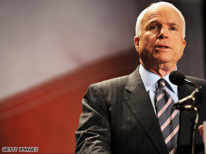 McCain said 'victory' is in sight in Iraq Sunday.