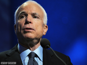 John McCain announced that he was suspending his campaign and pulling TV ads.