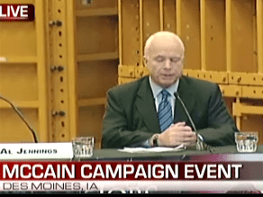 McCain held a business round table in Iowa Tuesday.