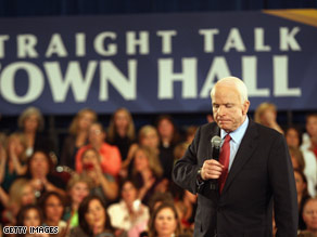 Sen. McCain held a town hall in Denver earlier this week.