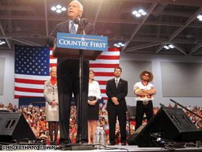 McCain and Palin held a rally in Virginia Beach earlier Monday.