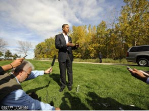 Sen. Obama talked about ACORN with reporters in Ohio Tuesday.
