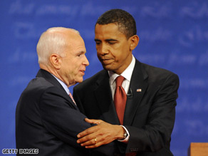 Sen. Obama is outspending Sen. McCain 4-to-1 on campaign commercials.