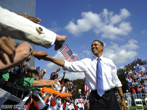 Obama is up 8 points over McCain according to the latest CNN poll of polls.