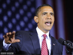 Sen. Obama gave what his campaign calls his closing argument of his presidential bid during a speech in Canton, Ohio Monday.