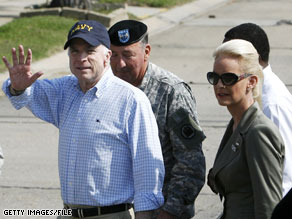 Sen. McCain toured the Lower Ninth Ward of New Orleans with his wife, Cindy, in April of this year.