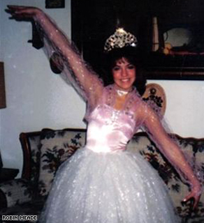 Robin as 'Glenda the Good Witch when she was a Majorette in high school