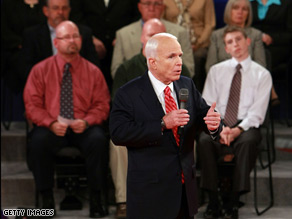 Was McCain the 'biggest cheerleader' for launching the war in Iraq?.