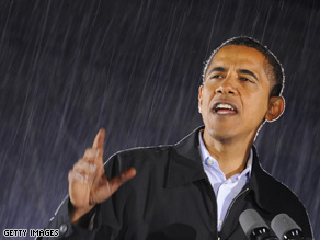 Obama's Monday campaign swing starts in Florida.