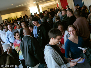 These early voters in Ohio waited on a two hour line to vote on Friday.
