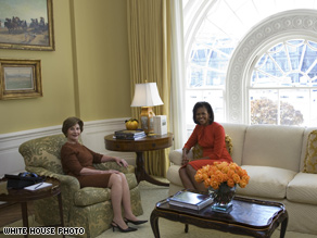 The current and future First Lady met Monday. Photo credit: White House photo by Joyce N. Boghosian.