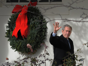 Bush and his family are spending their last Christmas at Camp David.