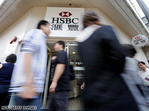 HSBC profits slumped 62 percent slump to $9.3 billion in 2008.