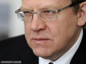 Russia's Finance Minister Alexei Kudrin says his country's economy has been set back by five years.