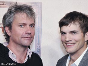 MySpace co-founder (left, with Ashton Kutcher) Chris DeWolfe is stepping down.