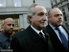 Madoff is accused of running a $50 billion Ponzi scheme through his investment company. He is free on bail.