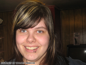 Hillary Transue was 15 when she appeared before a judge, accused of mocking a principal on MySpace.