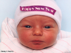 Camryn Jakeb Wilson was the first baby born in 2008 in Summit County, Ohio, arriving at 12:33 a.m. January 1.