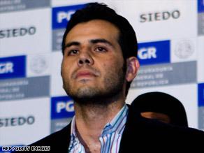 Authorities present suspect Vicente Zambada Niebla to the press Thursday in Mexico City.