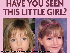 Madeleine McCann was 3 when she disappeared in 2007; this photo shows what she may look like at 6.