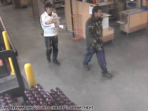 Authorities say these men purchased tape from a store and used it 3-year-old Briant Rodriguez's abduction.