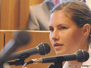 American college student Amanda Knox, 21,  testifies Friday at her murder trial in Perugia, Italy.