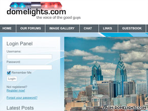 A group of black police officers claim other colleagues post racist messages on domelights.com during work.